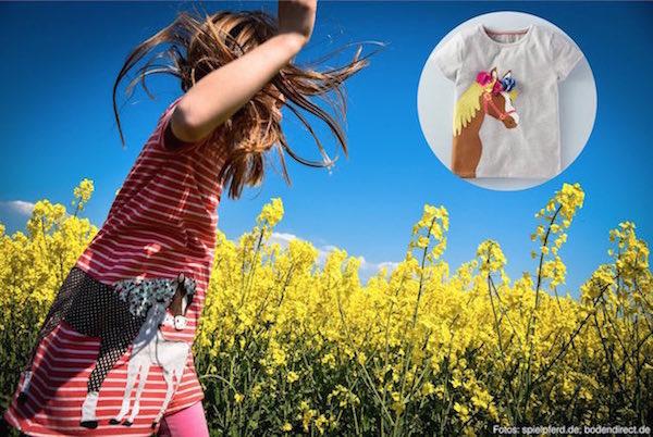 Spielpferd.de - Entdecke schöne Kleidung für kleine Pferdefreunde: Mini Boden-T-Shirt und Kleid mit Pferdemotiv