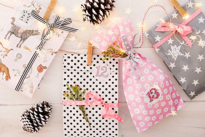 Adventkalender basteln einfach und schnell mit den Geschenktüten von krima & isa für Kinder und Erwachsene, Ideen, Tüten www.spielpferd.de