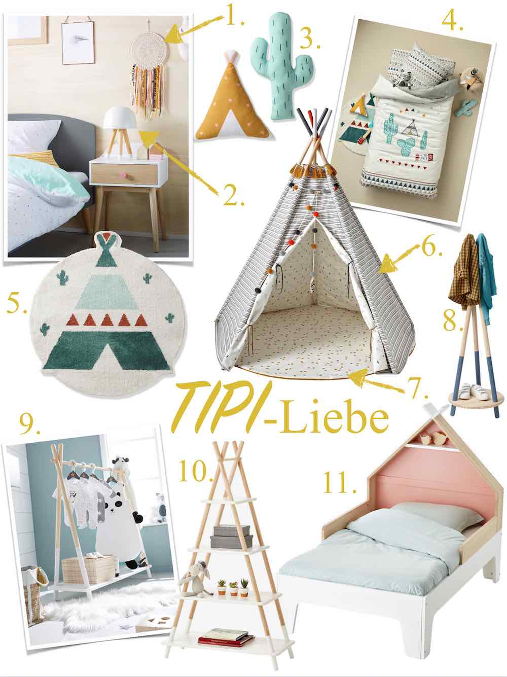 Kinderzimmer Ideen für Tipi-Fans und weitere Favoriten von ...