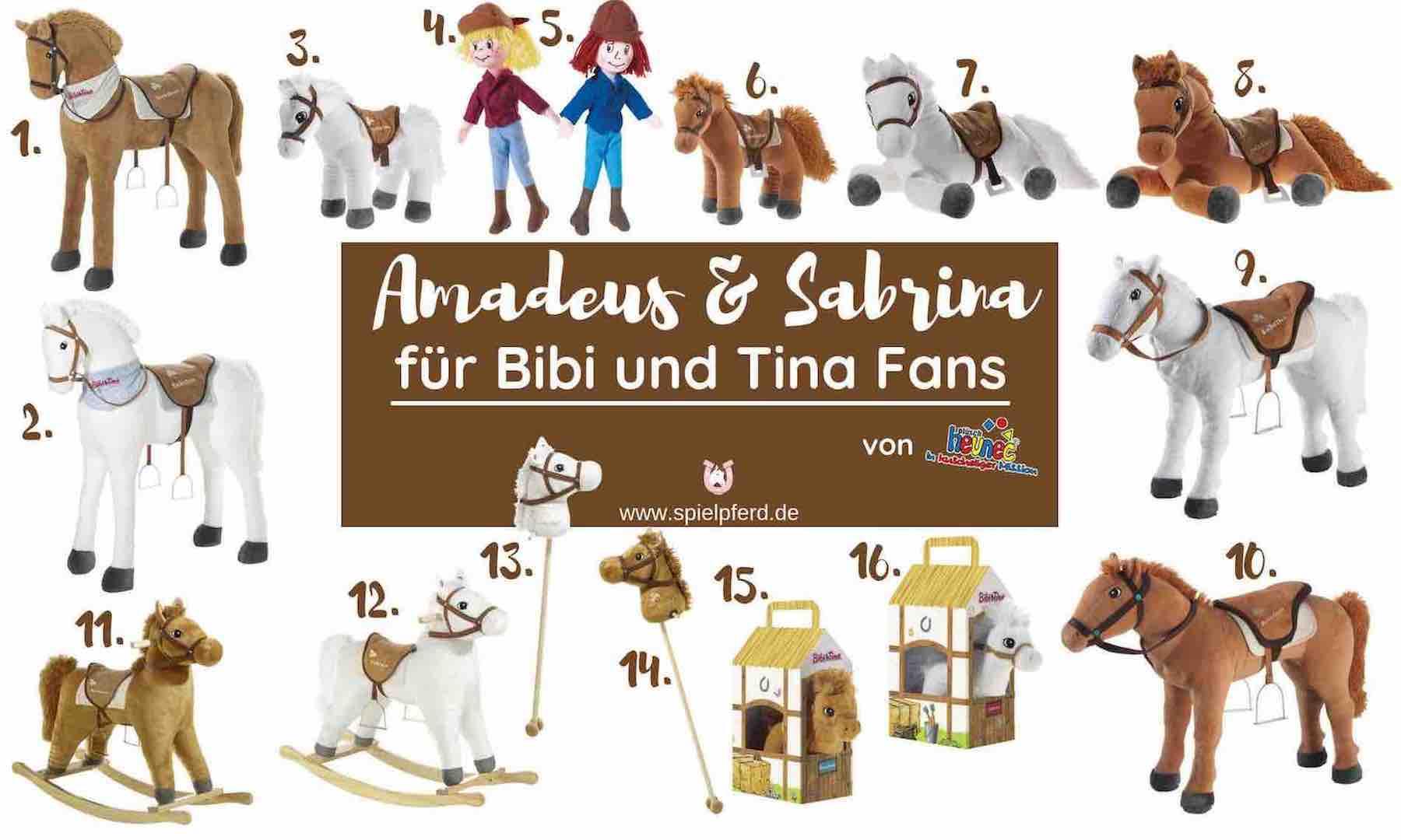 amadeus und sabrina pferde von heunec  kuschelweiche