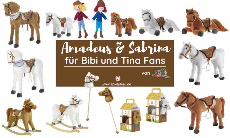 Amadeus und Sabrina Pferde für Bibi und Tina Fans, Bibi und Tina Geschenke, Bibi und Tina Spielzeug, Bibi und Tina Pferde, Stehpferd XXL Sabrina, Stehpferd Amadeus, Plüschpferd zum Reiten, Steckenpferd, Schaukelpferd, Kuschelpferd, Spielpferd XXL, Plüschtier groß, Fanartikel, Bibi und Tina Geschenkideen