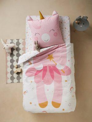 Bettwäsche Einhorn für Kinder. Kuschelige Einhorn Kinderbettwäsche. Einhorn Ideen für's Kinderzimmer.