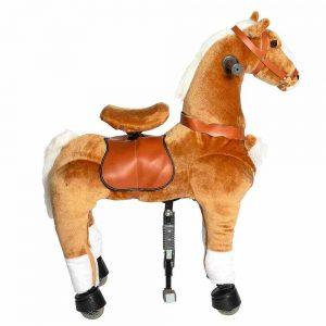 Galoppo Plüschpferd auf Rollen, ein braunes Pferd mit Rollen in der Größe: Medium