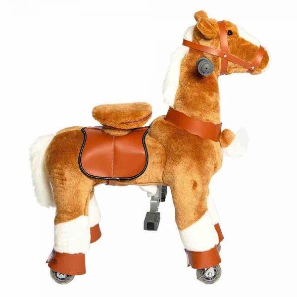 Galoppo Spielzeugpferd zum Reiten ist ein Plüschpferd mit Rollen klein für Kinder ab 2 Jahren.