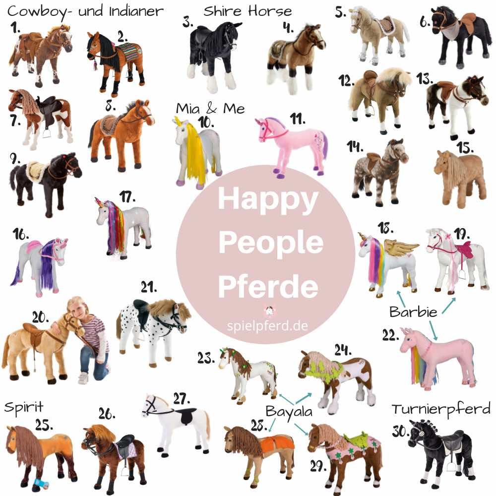 Happy People Pferd, Plüschpferd zum Reiten, Spielpferd / Stehpferd für Kinder
