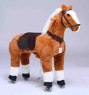 Pferd auf Rollen / Plüschpferd mit Rollen von UFREE HORSE, geeignet für Kinder von 3 - 9 Jahren.