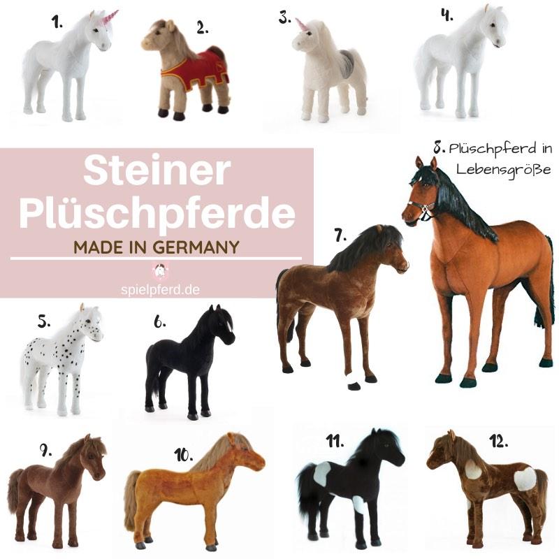 Steiner Plüschpferd XXL, Stehpferd XXL, Plüschpferd groß, lebensgroß, Spielpferd zum Reiten