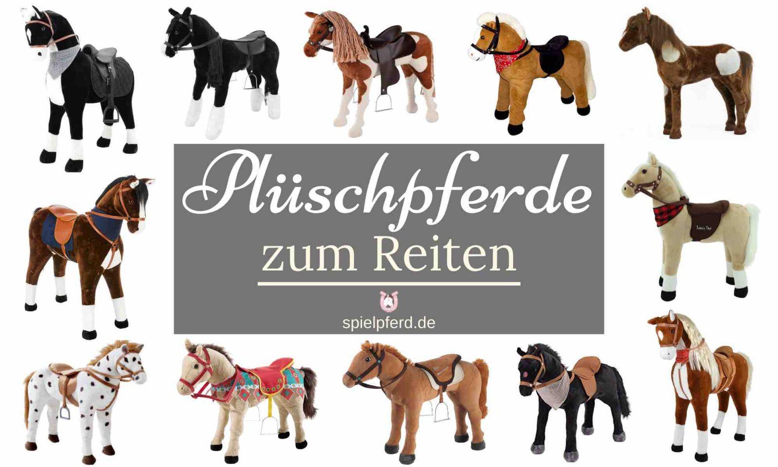 Plüschpferd zum Reiten, Stehpferd XXL, Plüschpferd XXL, Spielzeug Pferd, Happy People Pferd zum Draufsitzen, Spielpferd zum Reiten, alle Marken, verschiedene Modelle