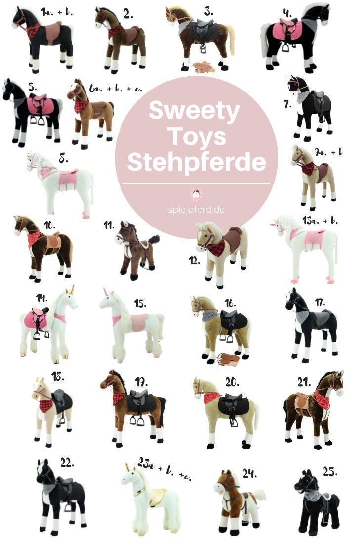 Sweety Toys Pferd, Sweety Toys Stehpferd XXL, Plüschpferd zum Reiten, Pferde Geschenke für Mädchen und Jungen