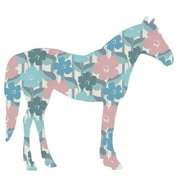 Möchtest du ein Pferde Kinderzimmer einrichten darf dieses tolle Tapetentier Pferd von Inke nicht fehlen.
