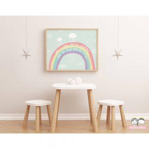 Regenbogen Poster / Print für das Kinderzimmer kleiner Regenbogen-Fans.