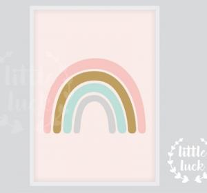 Regenbogen Poster für das Kinderzimmer.