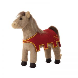 Plüschpferd für kleine Ritter-Fans. Pferd für kleine Kinder ab 2 Jahren.