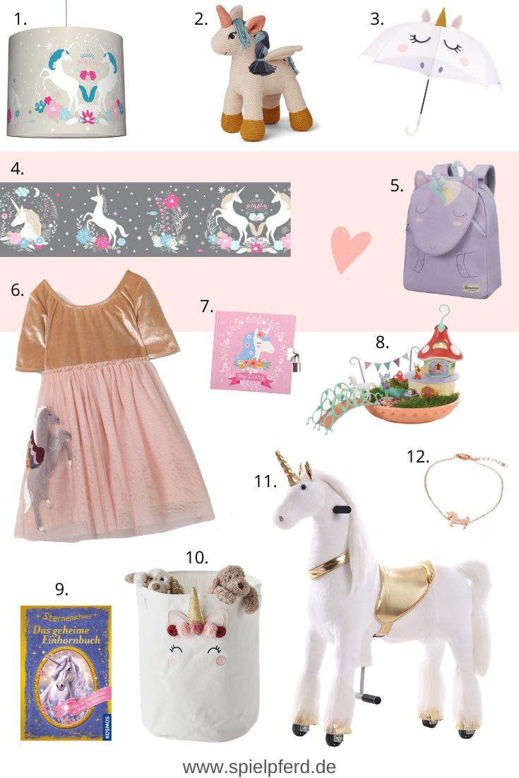 Einhorn Geschenke für Kinder. Einhorn Geschenkideen für Mädchen zu Weihnachten, Ostern oder zum Geburtstag.