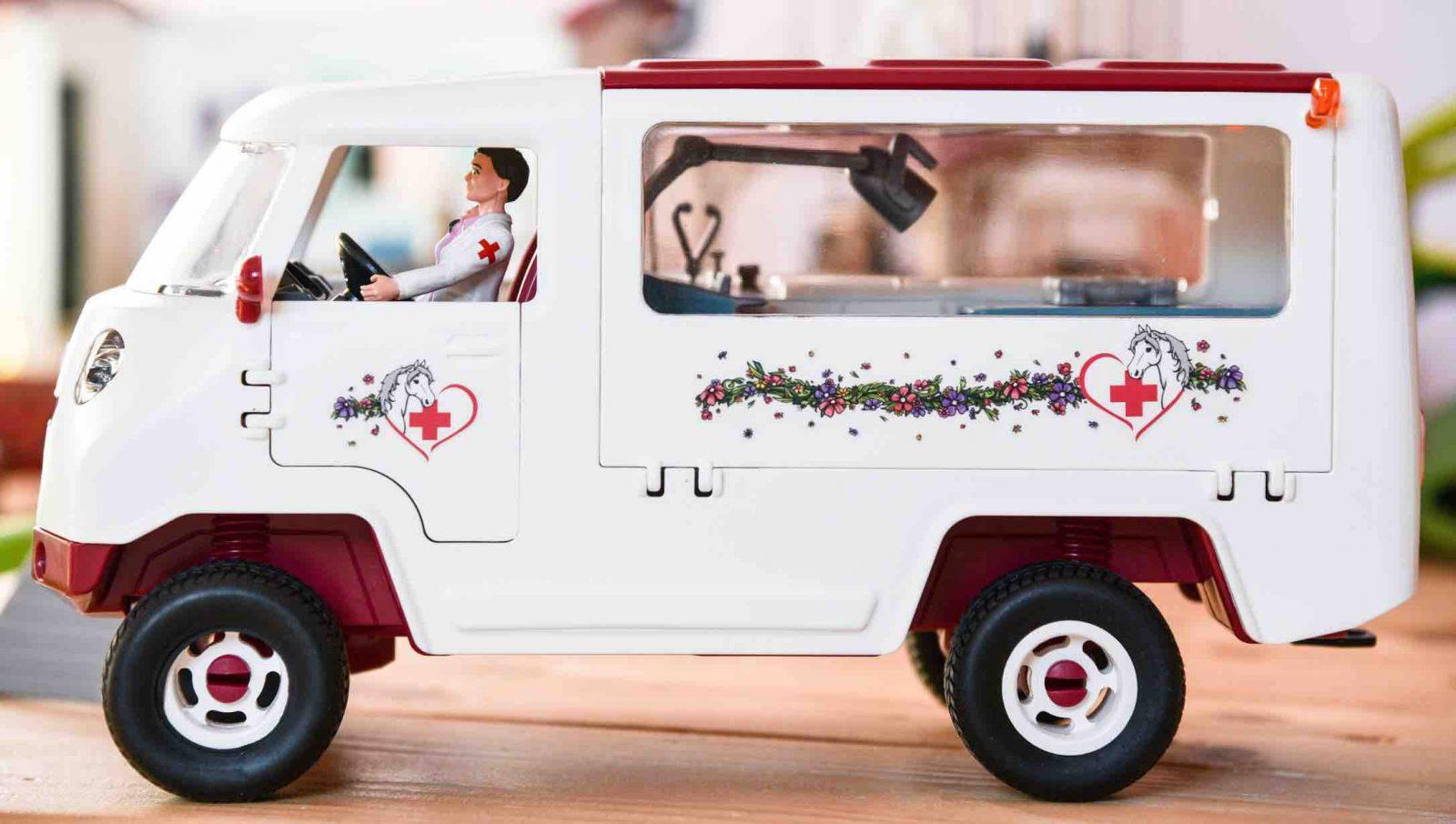 Tierarzt Spielzeug von Schleich. Arztwagen für Kinder. Mobile Tierärztin 42370 von Schleich.