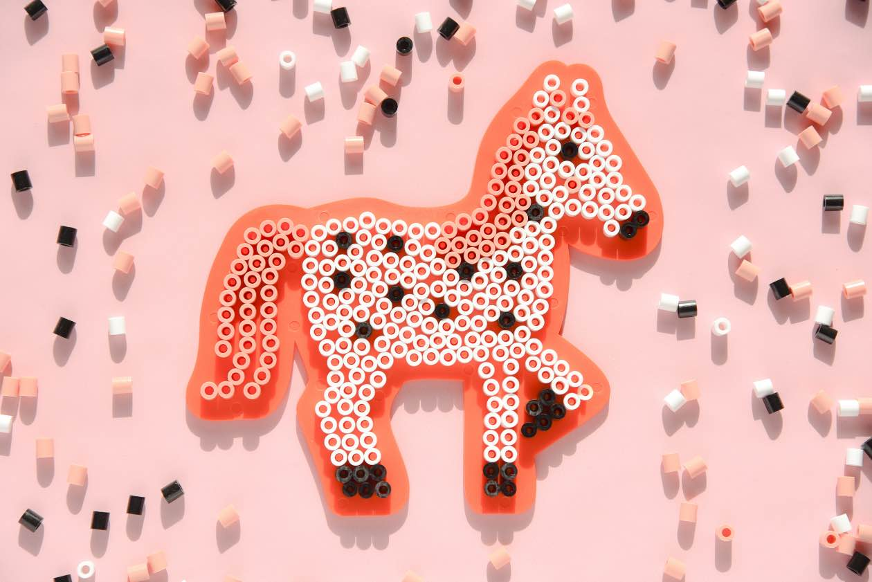 Bügelperlen Pferd Pferde