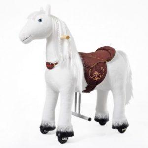Rollpferd Tiara von Ponnie in weiß, Größe S für Kinder zwischen 3 und 6 Jahren.