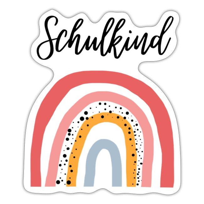 Schulkind-Sticker mit Regenbogen-Motiv